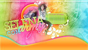 Selena Colors Header by SparksOfLights