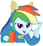 EQG Rainbow Dash Looking at You by Oathkeeper21