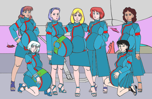 Pregnant starship officers by amiwakawaiidesu