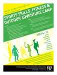 UTB/TSC Outdoor Adventure Camp flyer by lluviamaya