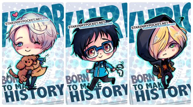 Yuri on Ice !!! Chibi Set by StarMasayume