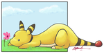Ampharos Doodle by haruka-wolf