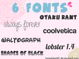 Fonts By Lucia Fdez by luciafdez23