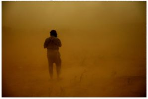dust storm by waxid