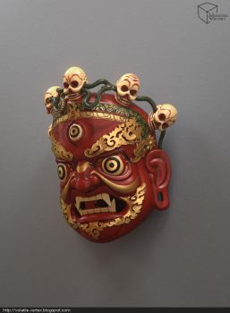Tibetan Goddess Mask by Volatile-Vertex