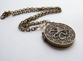 Medallion Locket Necklace by ms-pen
