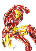 Iron Man colors by atzalan