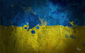Ukraine Painted Flag by ManePL