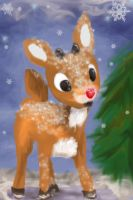 Rudolf the Red Nose Reindeer by Latharion