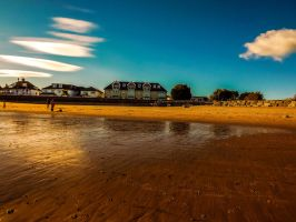 Blue Skies Overlooking Newton Beach October 2012 by welshrocker
