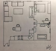 Apartment Floor Plan Created By Kay Deng (me) by Kay0822