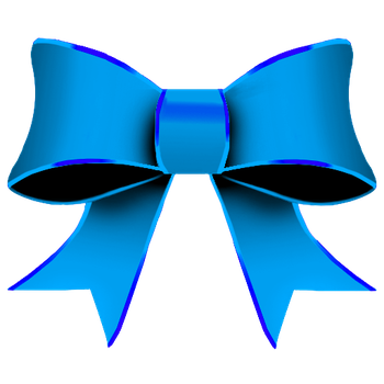 Ribbon Blue png by YuiiNao