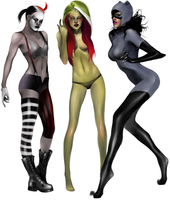 Gotham City Sirens Pass 1 by MikiValentine