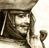 Captain Jack Sparrow grin by lilifane