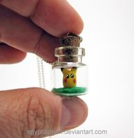 I Choose You Pikachu Tiny Bottle Necklace by egyptianruin