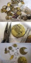 Steampunk jewellery tutorial by Gothic-Enchantress