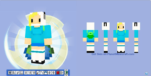 Minecraft Skin - Fionna from Adventure Time by Hermesbird04