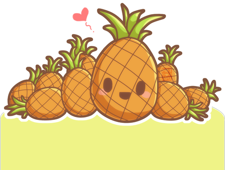 Happy and Cute Pineapple by 1pineapplejuice1