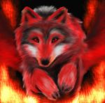 Fire Wolf by ToryFlores