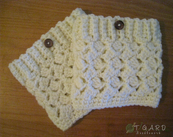 Boot Cuffs by tigardneedlework