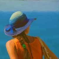 Blue hat by Rockport45