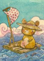 ACEO - Cosy travel by Adelaida