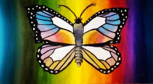Psychedelic Butterfly by NikitaOm