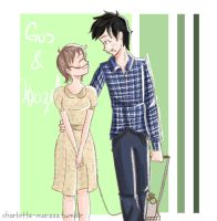 Gus and Hazel Grace by kailet97