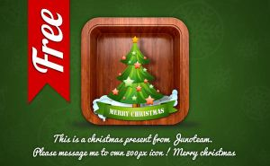 Free christmas app icon by junoteamvn