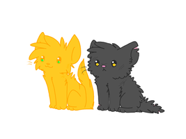 ~Yellowfang and Fireheart~ by Linthium