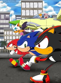 Sonic Race by ShadowBito