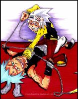 Black Star VS Soul Eater Evans by Moondrophime