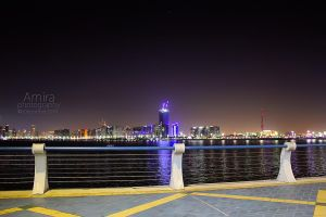 Abu Dhabi city from Corniche Dec 2010 by amirajuli