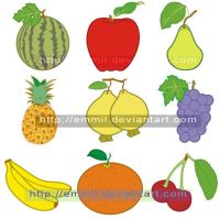 FOR SALE! Vector fruits by art-adoption