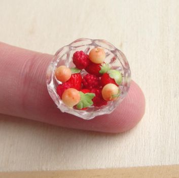 1:12 Scale Berry Cherry Bowl by fairchildart