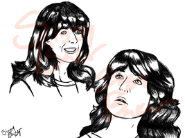 Sarah Jane Smith Sketch by ThetaSigmaIV