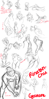 Gesture Figure Drawing Practice March 24 2013 by rinatan-chu