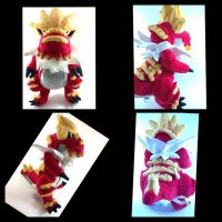 Tyrantrum plush by LRK-Creations