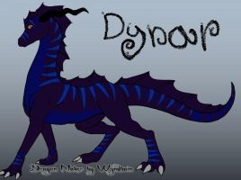 Dynar the wingless dragon by CanineCriminal