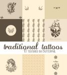 Traditional Tattoos Textures by Butterphil