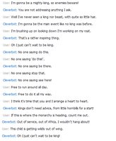 Singing with Cleverbot - Just Can't Wait to beKing by iPandacakes