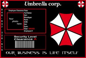 Red Umbrella ID Template by purplepuddlenut