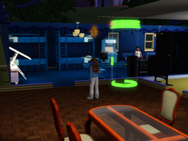 Sims 3 - Denise and I are eating chicken soup by Magic-Kristina-KW