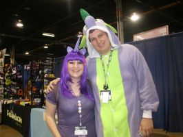 Anime Central: Twilight Sparkle and Spike by VickVicka