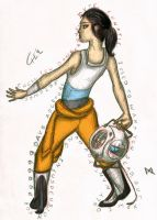 Chell the Rebel by TonyFicticium