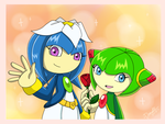 Cosmo and Galaxina by Domestic-hedgehog