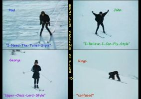 Beatles Skiing Styles by MsMoonTheLoon