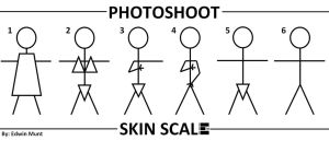 Skin Scale Stick Figures by EdwinLMunt