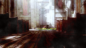 Aerith and Tifa: The Church by areopoli