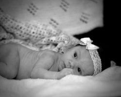 Baby Girls Stare by Manbehindthelens